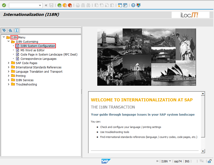 SAP Internationalization (I18N)